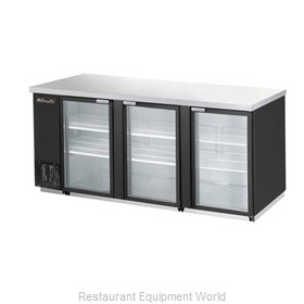 Blue Air Commercial Refrigeration BBB90-4SG Back Bar Cabinet, Refrigerated