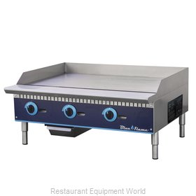 Blue Air Commercial Refrigeration BFMG-36 Griddle, Gas, Countertop