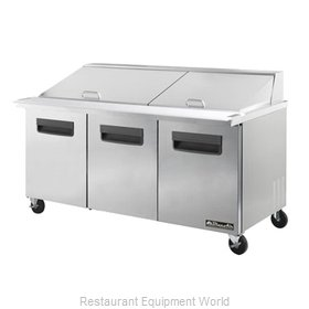 Blue Air Commercial Refrigeration BLMT72 Refrigerated Counter, Mega Top Sandwich