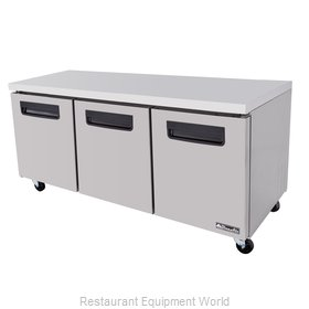Blue Air Commercial Refrigeration BLUF72 Freezer, Undercounter, Reach-In