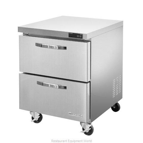 Blue Air Commercial Refrigeration BLUR28-D2-HC Refrigerator, Undercounter, Reach