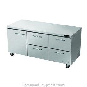 Blue Air Commercial Refrigeration BLUR72-D4RM-HC Refrigerator, Undercounter, Rea