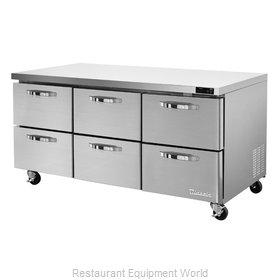 Blue Air Commercial Refrigeration BLUR72-D6-HC Refrigerator, Undercounter, Reach