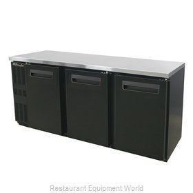Blue Air Commercial Refrigeration BNB-72BT Back Bar Cabinet, Refrigerated