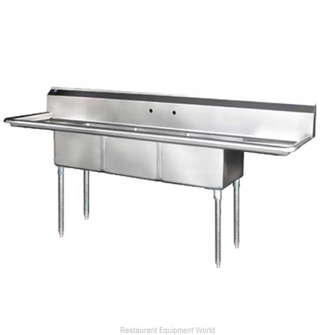 Blue Air Commercial Refrigeration BS3-18-12/2D Sink, (3) Three Compartment