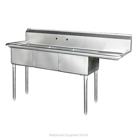 Blue Air Commercial Refrigeration BS3-18-12/R Sink, (3) Three Compartment