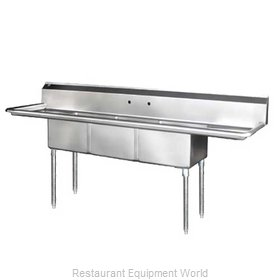 Blue Air Commercial Refrigeration BS3-24-14/2D Sink, (3) Three Compartment