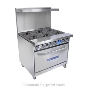Bakers Pride 36-BP-2B-RG24-C Open Burner Range and Broiler