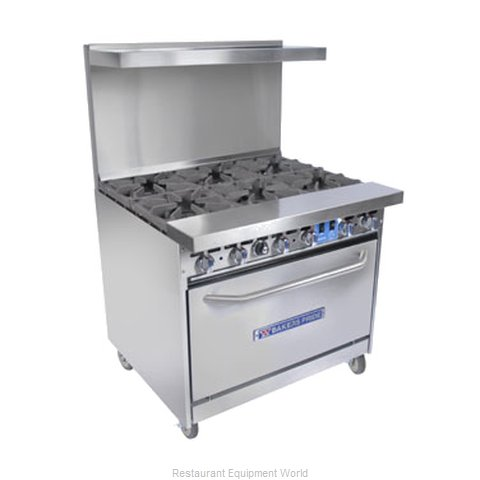 Bakers Pride 36-BP-2B-RG24-X Open Burner Range and Broiler