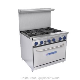 Bakers Pride 36-BPV-6B-S30 Range 36 6 open burners