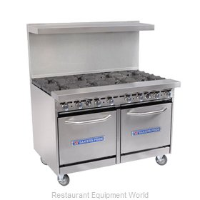 Bakers Pride 48-BP-4B-RG24-SX Range 48 4 Open Burners 24 griddle