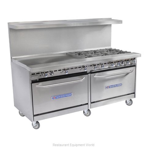 Bakers Pride 60-BP-2B-G48-CX26 Range 60 2 open burners 48 griddle (Magnified)