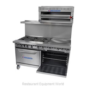 Bakers Pride 60-BP-6B-RG24-S26 Range 60 6 Open Burners 24 Griddle