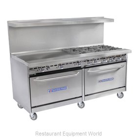 Bakers Pride 60-BP-6B-RG24-SX30 Range 60 6 Open Burners 24 Griddle