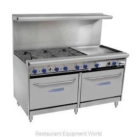Bakers Pride 60-BPV-6B-RG24-S26 Range 60 6 Open Burners 24 Griddle