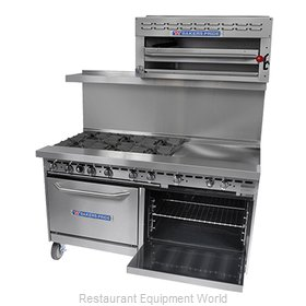 Bakers Pride 72-BP-6B-G36-S30 Range, 72