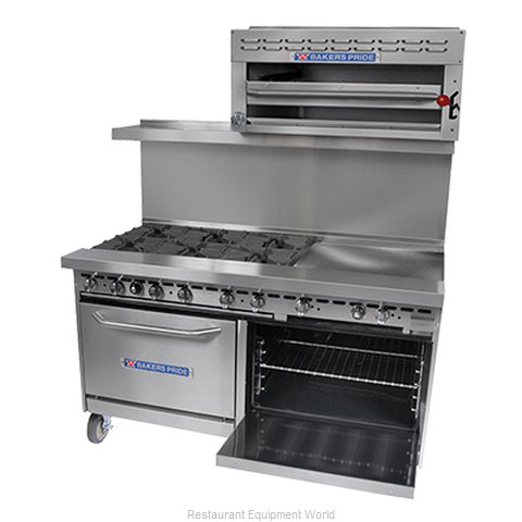 Bakers Pride 72-BP-8B-G24-S30 Range 72 8 Open Burners 24 Griddle