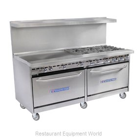 Bakers Pride 72-BP-8B-RG24-C30 Open Burner Range and Broiler