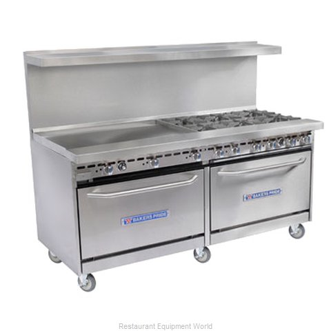 Bakers Pride 72-BP-8B-RG24-CX30 Open Burner Range and Broiler