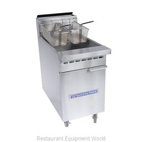 Bakers Pride BPF-3540 Fryer Floor Model Gas Full Pot