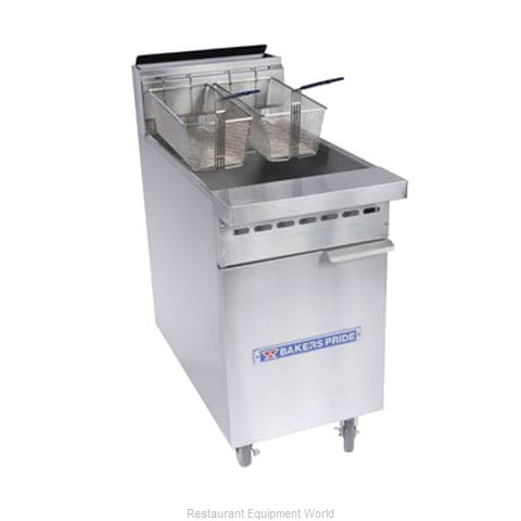 Bakers Pride BPF-4050 Fryer Floor Model Gas Full Pot