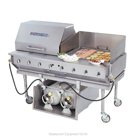 Bakers Pride CBBQ-60S-CP Charbroiler, Gas, Outdoor Grill