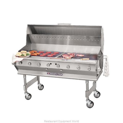 Bakers Pride CBBQ-60S Charbroiler, Gas, Outdoor Grill