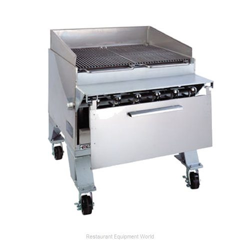 Bakers Pride CH-6J Charbroiler, Gas, Floor Model