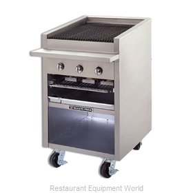 Bakers Pride F-24GS F-GS Floor Model Glo-Stone Charbroiler with Built-