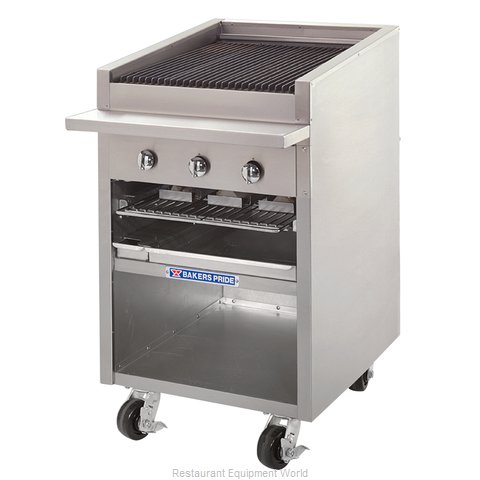 Bakers Pride F-24R Charbroiler, Gas, Floor Model (Magnified)