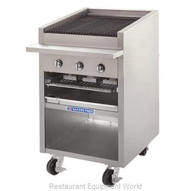 Bakers Pride F-24R F-R Series Floor Model Radiant Char Broiler with B