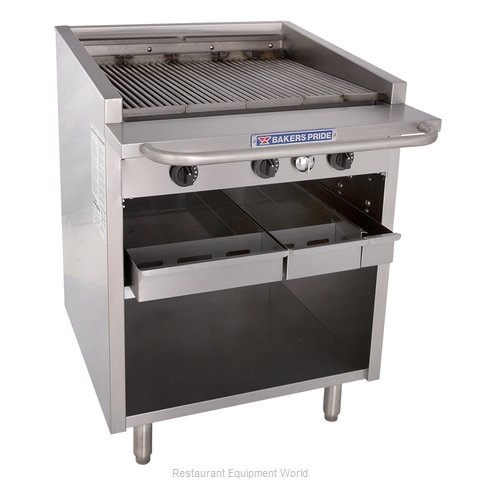 Bakers Pride F-30R Charbroiler, Gas, Floor Model (Magnified)