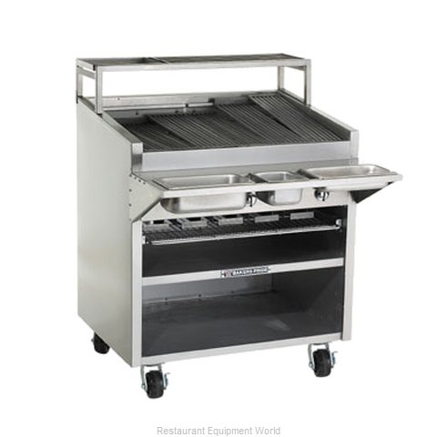 Bakers Pride F-48GS F-GS Floor Model Glo-Stone Charbroiler with Built-