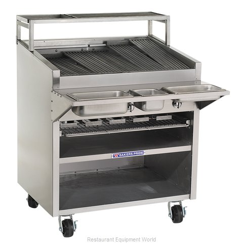 Bakers Pride F-48R Charbroiler, Gas, Floor Model (Magnified)