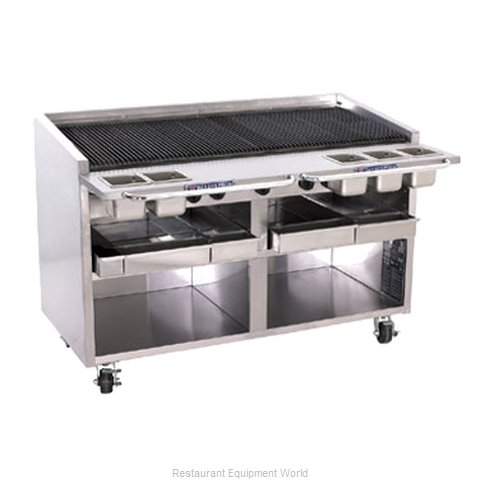 Bakers Pride F-60GS F-GS Floor Model Glo-Stone Charbroiler with Built-