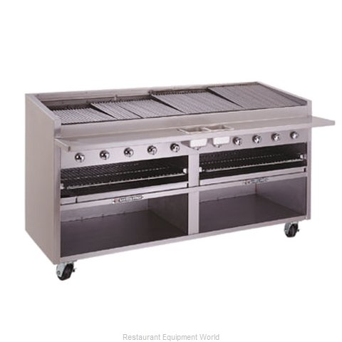 Bakers Pride F-84GS F-GS Floor Model Glo-Stone Charbroiler with Built-