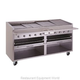 Bakers Pride F-84R F-R Series Floor Model Radiant Char Broiler with B