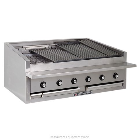 Bakers Pride L-48R Charbroiler, Gas, Countertop (Magnified)