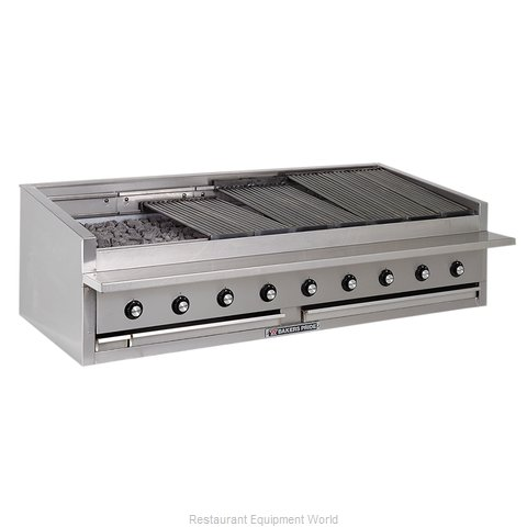 Bakers Pride L-72R Charbroiler, Gas, Countertop (Magnified)
