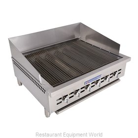 Bakers Pride XX-6 Charbroiler, Gas, Countertop