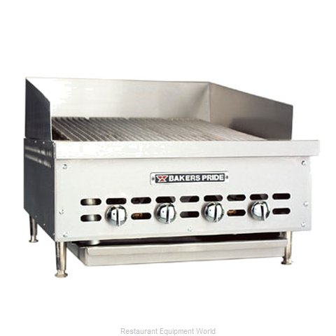 Bakers Pride XX-6GS XX Series Contertop Glo Stone Charbroilers