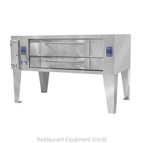 Bakers Pride Y-602BL Pizza Oven Deck-Type Gas