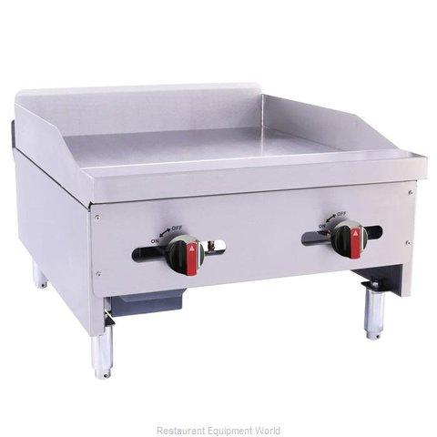 BakeMax BACG24-2 Griddle, Gas, Countertop