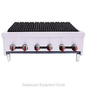 BakeMax BACGG36-6 Charbroiler, Gas, Countertop