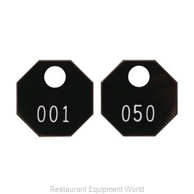 Bar Maid CR-1400BLK-1 Coat Check Tag