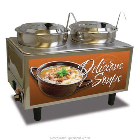Benchmark USA 51072S Food Pan Warmer/Cooker, Countertop