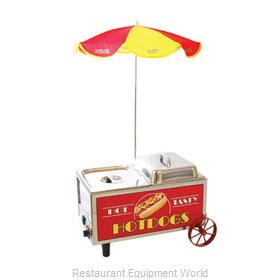Benchmark USA 60072 Mini Cart Hot Dog Steamer