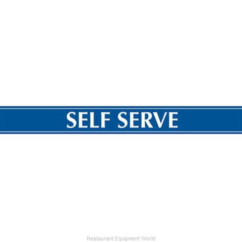 Beverage Air 409-419C-141 Self-Serve Sign (Magnified)