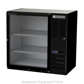 Beverage Air BB36HC-1-FG-B Back Bar Cabinet, Refrigerated