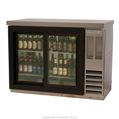 Beverage Air BB48GSYF-1-S-PT Backbar Cabinet Refrigerated